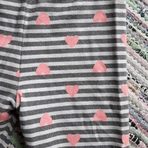 Cat & Jack Bottoms - Striped heart leggings